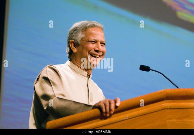 muhammad yunus of bangladesh the 2006 nobel peace prize winner speaks in stockholm sweden