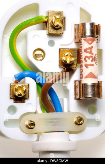 wiring plug stock photos wiring plug stock images alamy uk electric plug showing correct wiring stock image