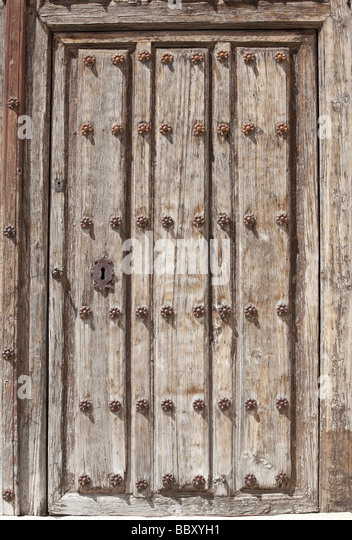 Detail of weathered door with keyhole - Stock Image & Church Door Stock Photos \u0026 Church Door Stock Images - Alamy