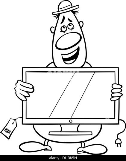 Salesman Cartoon Coloring Page Stock Photos & Salesman Cartoon ...