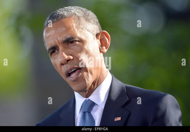 Camp <b>David, USA</b>. 14th May, 2015. United States President Barack Obama speaks - camp-david-usa-14th-may-2015-united-states-president-barack-obama-ep8yga