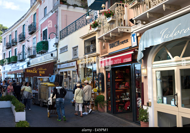 Italy Capri Street Stock Photos & Italy Capri Street Stock Images ...