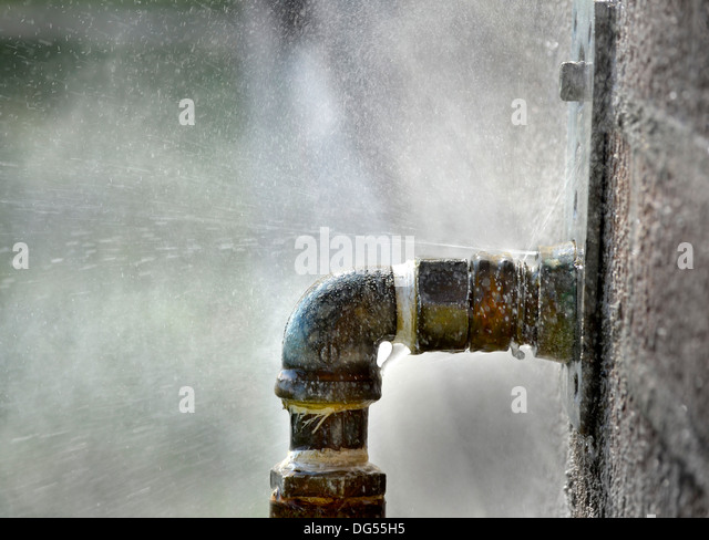 Water pipe works stock photos water pipe works stock for Leaky pipe carries more water
