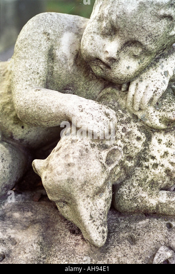 Nice Backyard Thomastown : Sleeping Child with Lamb Statuary in Mt Auburn Cemetery, Cambridge