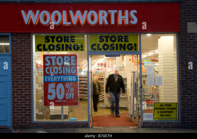 Woolworths Closing Down Sale Liquidation Stock Photos ...