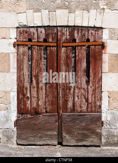 Double garage stock photos double garage stock images alamy - Double wooden garage doors ...