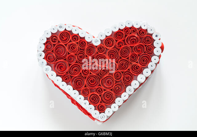 Paper quilling box decoration for Heart shaped decorations home