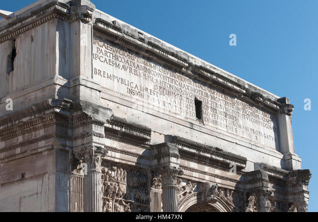 Arch Of Septimius Severus Stock Photos & Arch Of Septimius ...