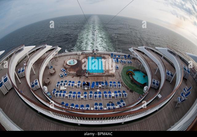 Fisheye Photograph Aft Stern Cruise Ship Stock Photos Fisheye - What is the aft of a cruise ship