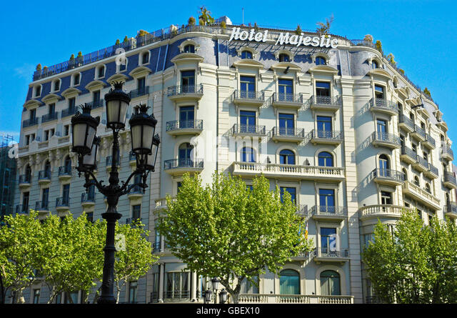 Majestic hotel barcelona stock photos majestic hotel for Hotel gracia barcelona