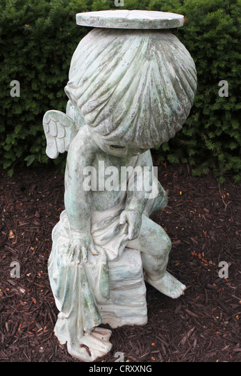 A Statue Of A Child Angel At The Precious Moments Chapel.   Stock Image