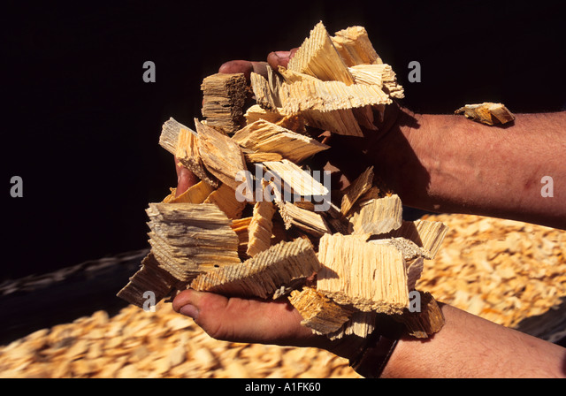 Wood Chip Uses ~ Making wood chips stock photos
