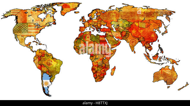 Outline Map Country Argentina Stock Photos Outline Map Country - Argentina map world