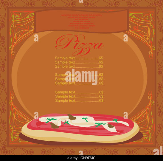 Pizza Menu Template Stock Photos  Pizza Menu Template Stock