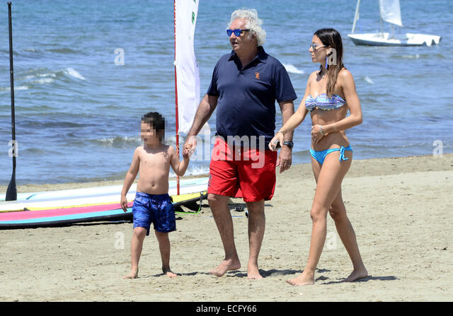 Flavio Briatore And His Wife Elisabetta Gregoraci Take ...