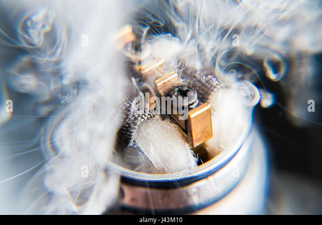 Explosion vaping - Stock Image