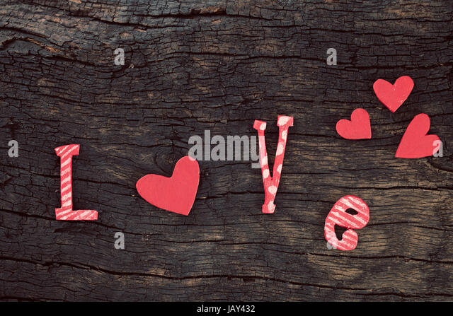 Two Small Love Letter Valentine Stock Photos  Two Small Love
