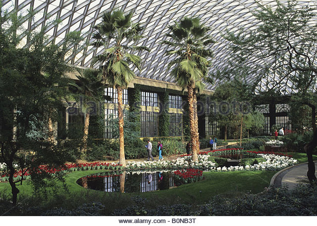 Interior Of A Conservatory At Longwood Gardens, Kennett Square,  Pennsylvania, USA   Stock