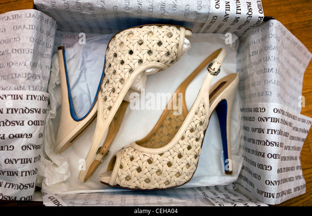 Bride Shoes At An Italian Wedding