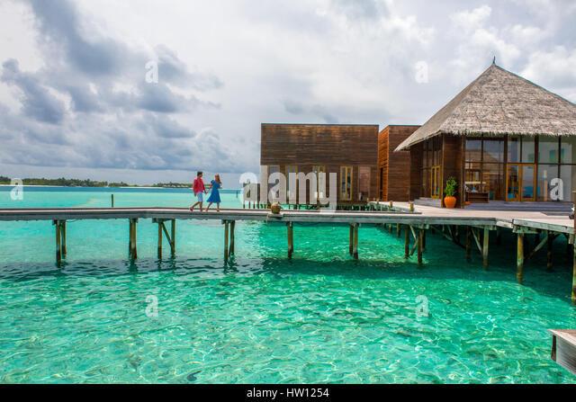 Baordwalk stock photos baordwalk stock images alamy for Hilton hotels in maldives