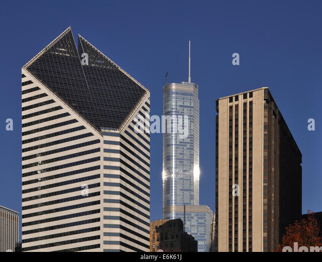Delightful The Crain #4: Crain Communications Building, Trump International Hotel And Tower And  Millennium Park Plaza, Chicago,