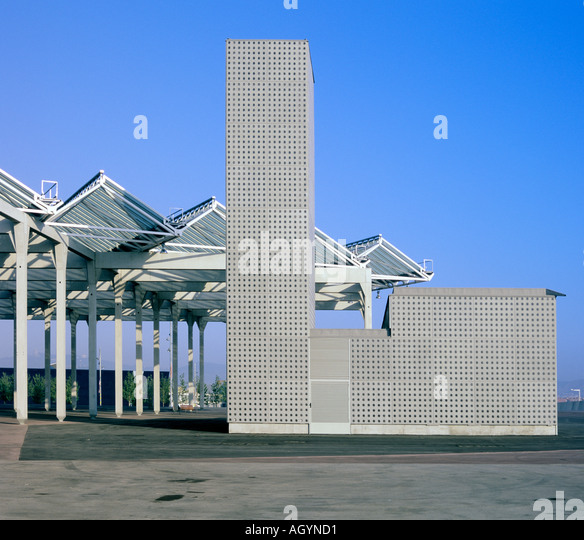 Modern Architecture In Barcelona geometric architecture in barcelona spain stock photos & geometric