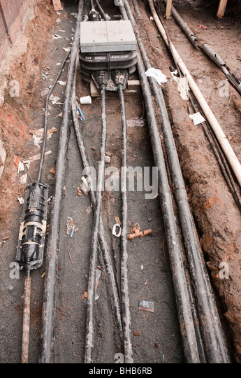 Utility Pipes And Cables : Utilities street works stock photos