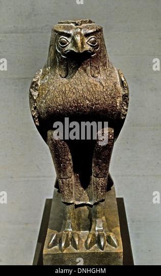 Horus statue museum stock photos