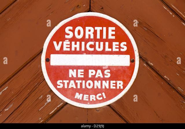 Panneau de stationner sortie de vhicules gallery of - Merci de ne pas stationner devant le garage ...