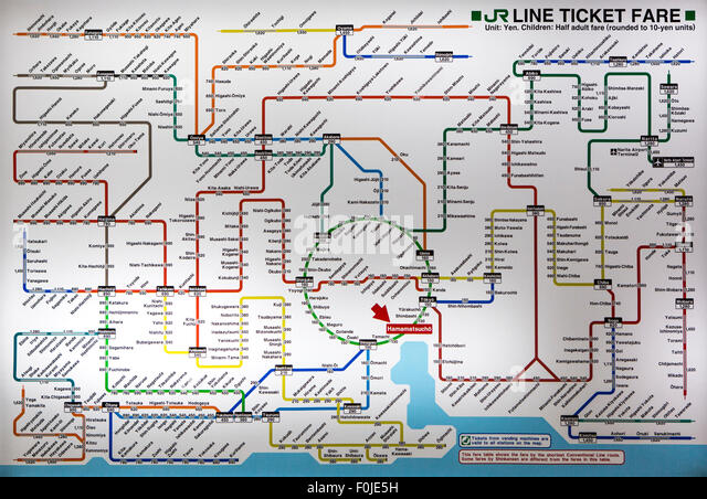 Tokyo Subway Map Stock Photos Tokyo Subway Map Stock Images Alamy - Japan map metro