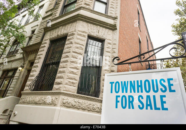 Townhouse for sale stock photos townhouse for sale stock for Townhouses for sale in harlem