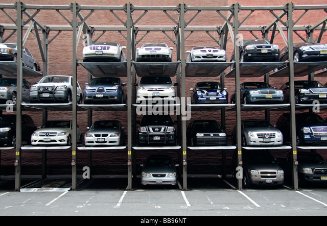 Multi Level Stacked Parking Stock Photos Multi Level Stacked