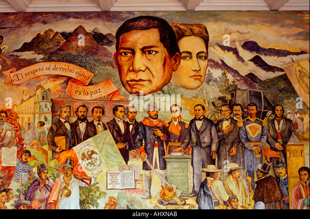 Bustos stock photos bustos stock images alamy for Benito juarez mural