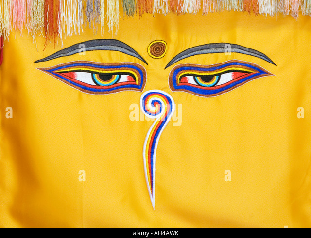 Colourful Tibetan Buddhist Wall Hangings Stock Photos & Colourful ...