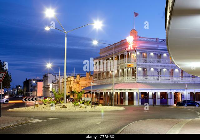 The Heritage Hotel in the evening Quay Street Rockh&ton Queensland Australia - & Rockhampton Stock Photos u0026 Rockhampton Stock Images - Alamy azcodes.com