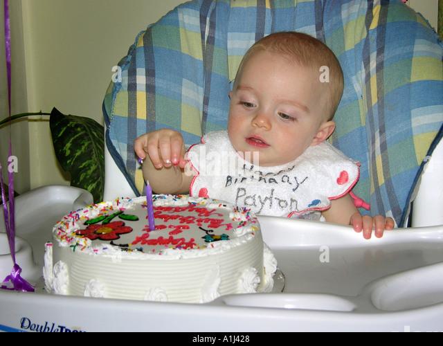 Year Old Girl Celebrates Birthday Stock Photos Year Old