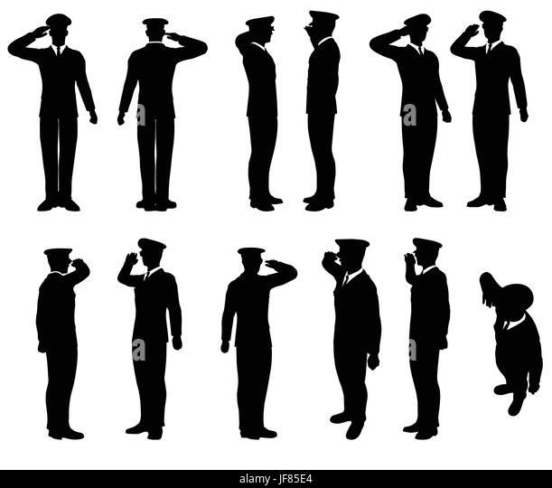 Army Soldier Silhouette Black and White Stock Photos ...
