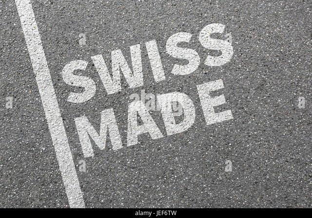 Swiss Made product quality marketing company concept - Stock Image