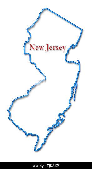 New Jersey Map Stock Photos New Jersey Map Stock Images Alamy - Newjerseymap