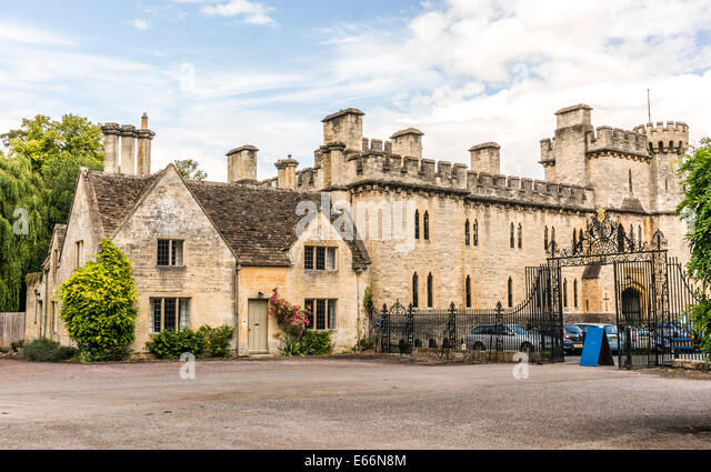A Historic Old House Next To Cecily Hill Barracks Faux Medieval Castle At Cirencester