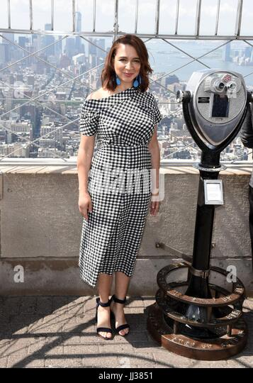 New York, NY, USA. 17th July, 2017. Maya Rudolph in attendance for THE EMOJI MOVIE Cast Lights Empire State Building - Stock Image