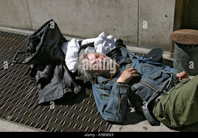 Homeless Alcoholic On A Street Stock Photography - Image: 34510972