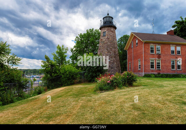Charlotte Genesee Lighthouse: Rochester New York Stock Photos & Rochester New York Stock