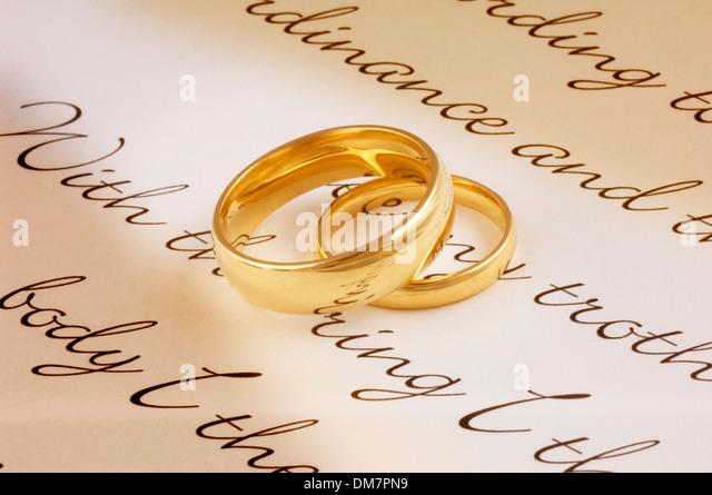Wedding Rings   John Gollop   Stock Image