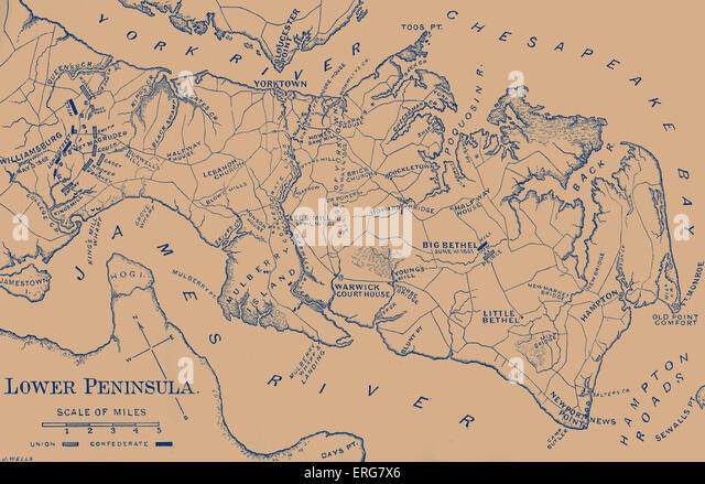 Civil War Battle Maps Stock Photos Civil War Battle Maps Stock - Us map of civil war battles