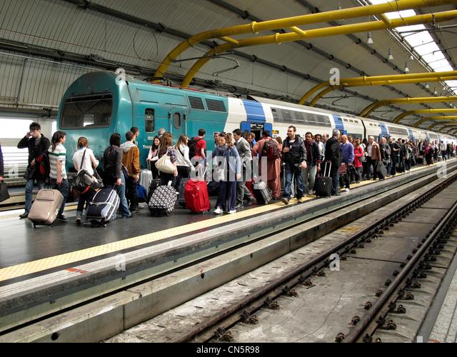 Train rome stock photos train rome stock images alamy - Train from fiumicino to civitavecchia port ...