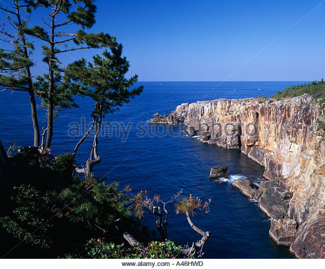 Sandanpeki Shirahama Wakayama Japan Stock Photos ...