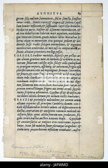 Suetonius Lives Of The Twelve Caesars 1540