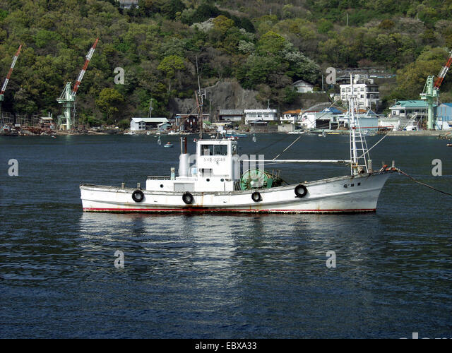 Japanese fishing village stock photos japanese fishing for Japanese fishing boat