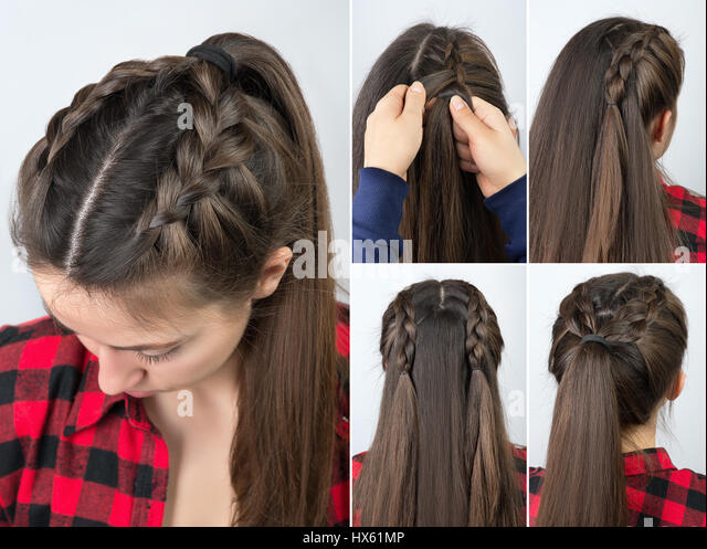 Braided Hairstyle Stock Photos & Braided Hairstyle Stock